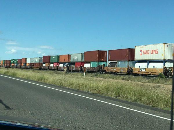 Railroad Train in Marfa West Texas