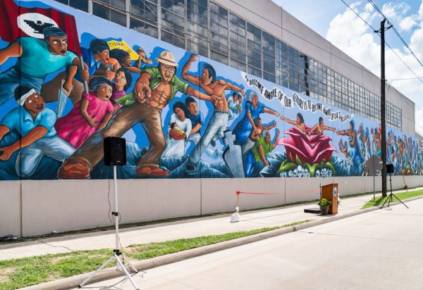 Rebirth of Our Nationality Mural Leo Tanguma Houston
