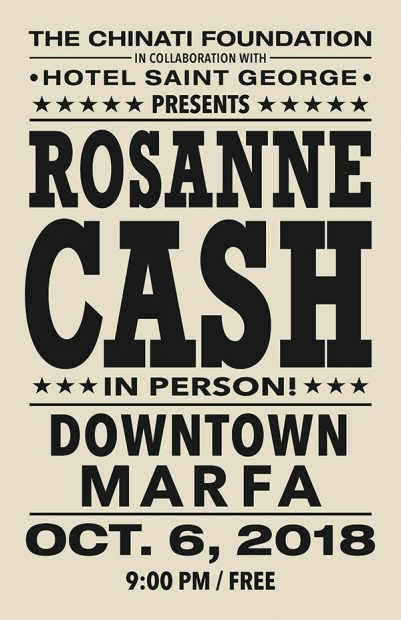Rosanne Cash Chinati Foundation Marfa Texas