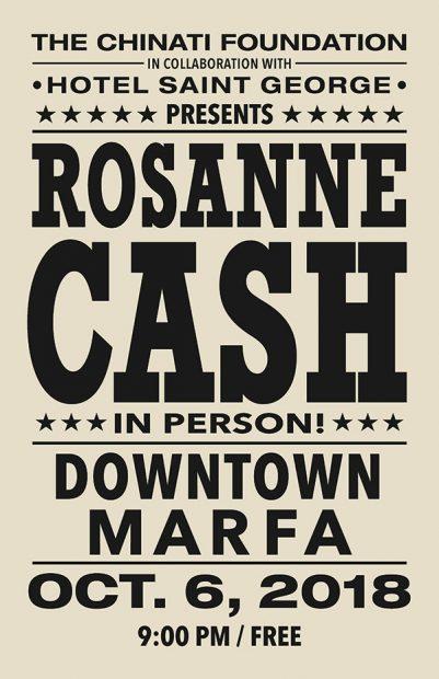 Rosanne Cash Chinati Foundation Marfa Texas