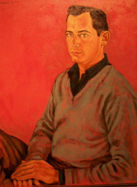 "Oscar McCracken, oil on canvas, 1957, 30"" x 24"
