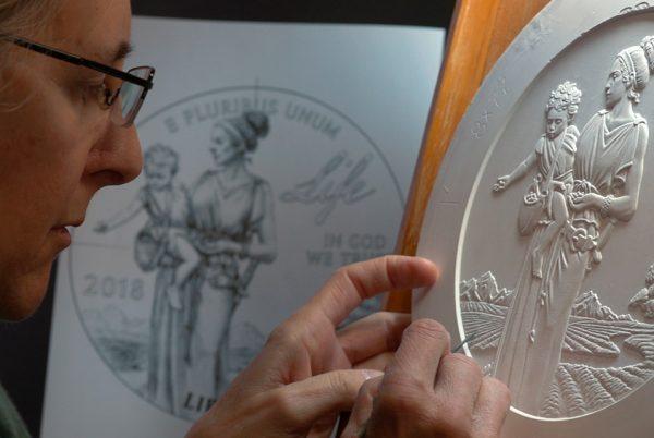 US Mint Sculpting a coin