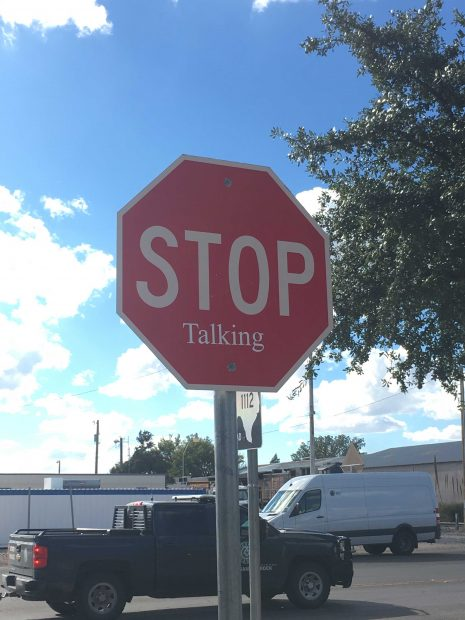 artsy Stop Sign in Marfa Texas