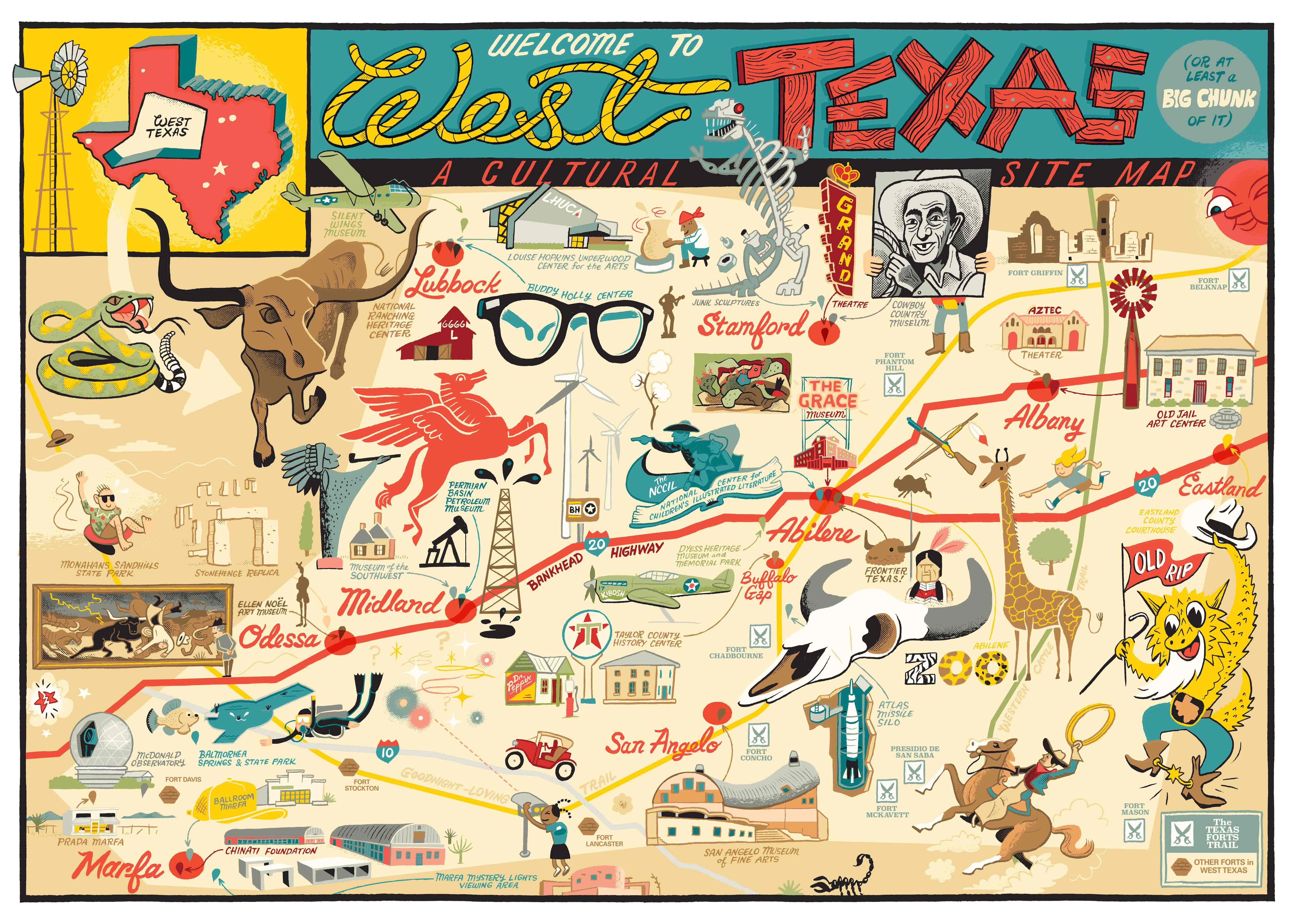 A New West Texas Travel Guide from the Old Jail Art Center   Glasstire