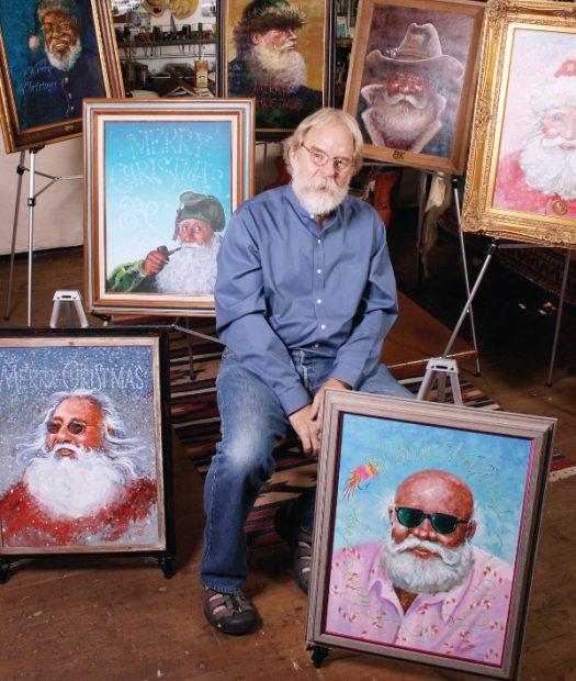 Billy Keen Santa Paintings in San Antonio Texas
