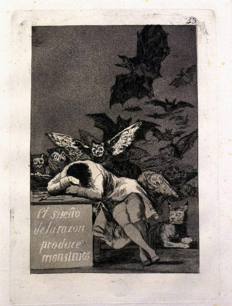 Francisco de Goya, Los Caprichos dreams Etching print