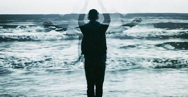 Houston artist Lina Dib- Threshold art about Waves in Galveston