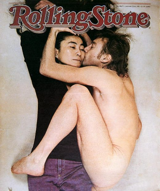 John Lennon and Yoko Ono by Annie Leibovitz Rolling Stone Cover