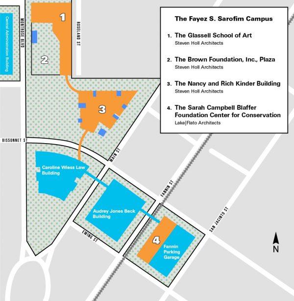 Museum of Fine Arts Houston Campus Redevelopment plan map