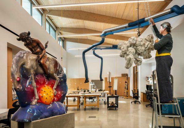 Museum of Fine arts Houston Texas new Center for Conservation sculpture studio
