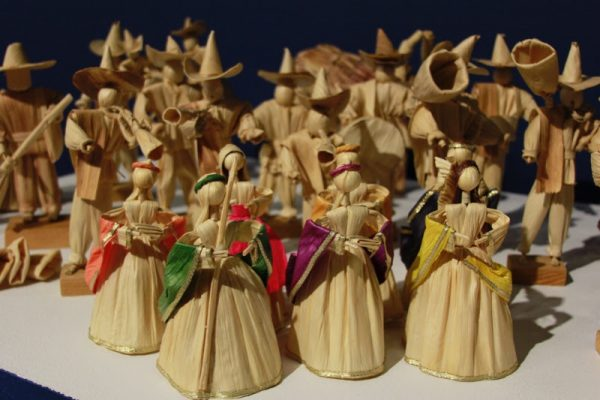 Nativity scene from Mexico at the Mexic Arte Museum in Austin Texas