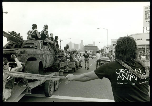 George Hixson's photo of Houston's New Music America Parade, 1986.