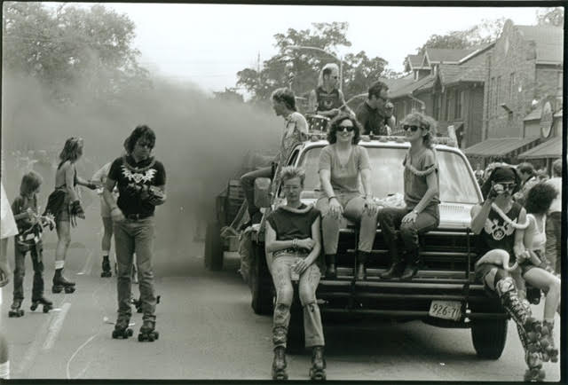 George Hixson's photo of Houston's New Music America Parade, 1986.
