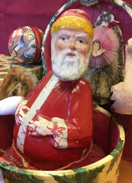 Vintage Christmas Ornament Decoration Display