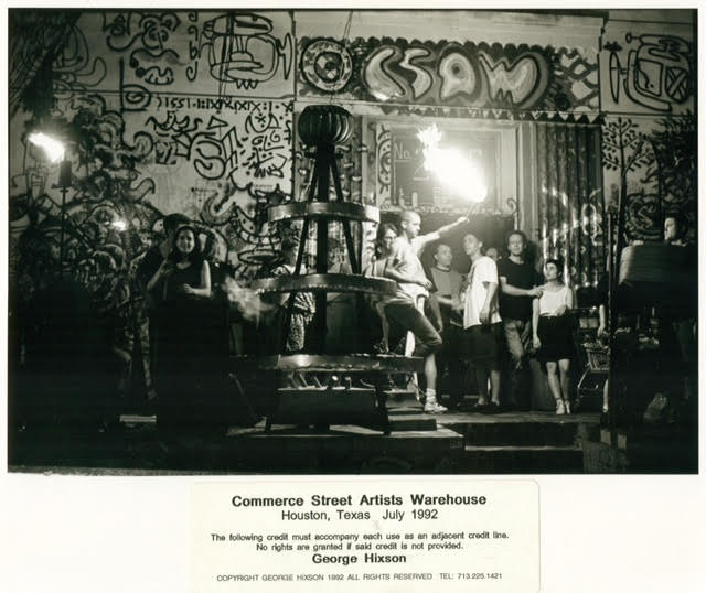 George Hixson, unidentified performance at Commerce Street Artists Warehouse, 1992