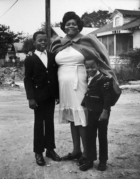 Mother with Sons, 3rd Ward, Houston, TX, 1973