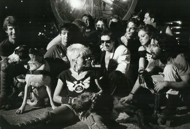 Jean Michel Jarre, far left, with the Urban Animals in Houston, 1986.