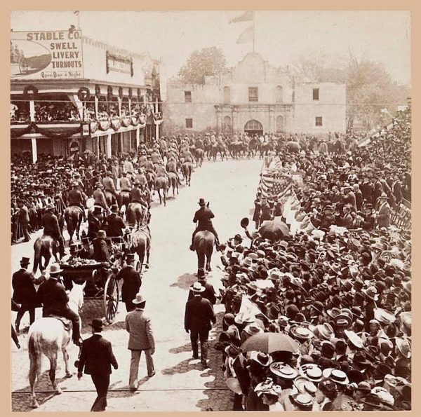 B. W. Kilburn, Roosevelt Arriving at the Alamo, 1905