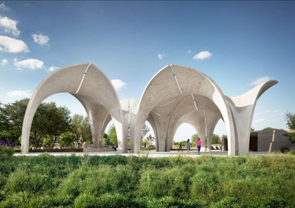 Confluence Park in San Antonio Texas concrete structure