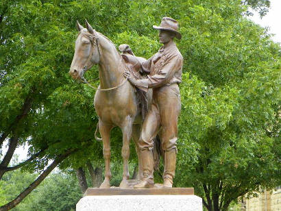 "Coppini's ""Spirit of the Cowboy"" in Ballinger, courtesy of Barclay Gibson."