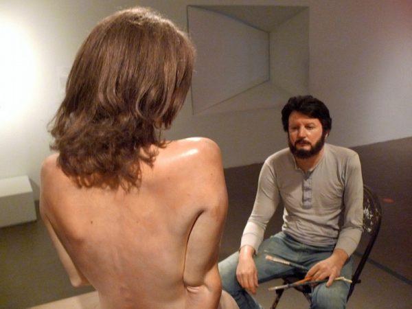 John De Andrea, Self-Portrait with Sculpture, 1980 (2018)