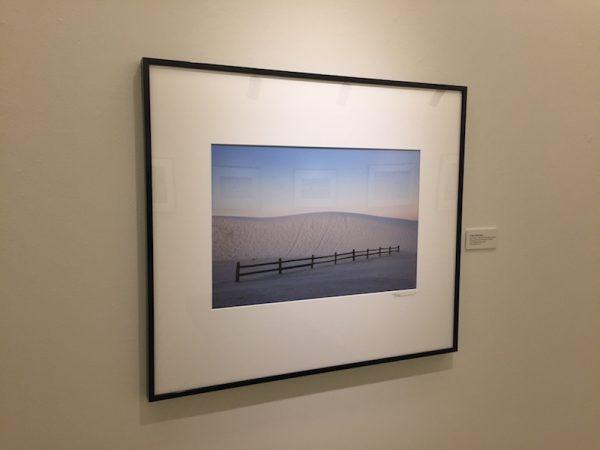 Dune and Fence, Alkali Flats Trail, Sunrise