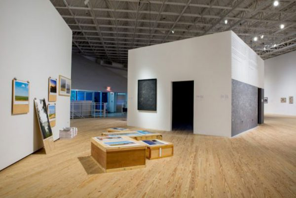 Installation view of Justice system art show Walls Turned Sideways at the Contemporary Arts Museum Houston