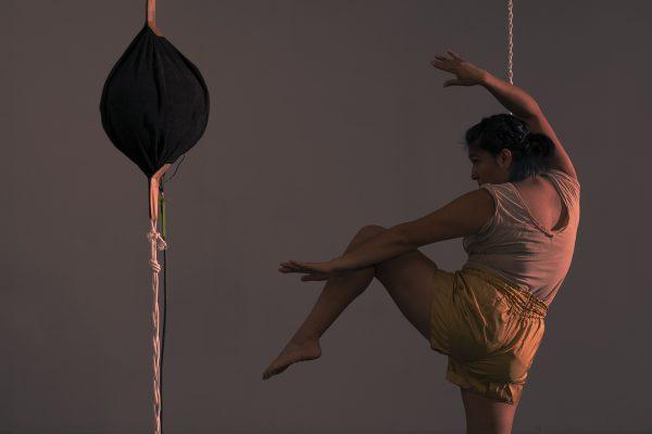 Performance artist Marcela Torres for Experimental Action Festival