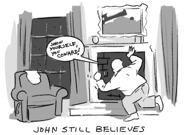 Texas artist John Forse Christmas comic for Glasstire