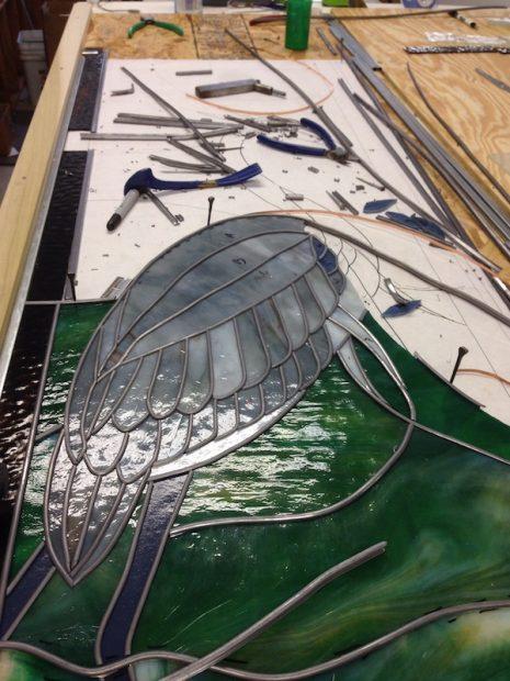 A scene at Grojean Glass Studio, Dallas