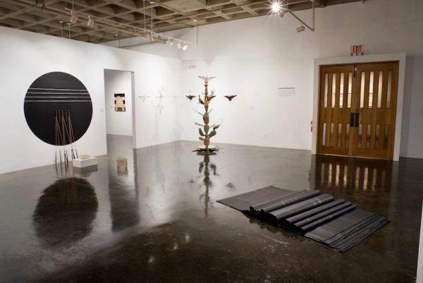 Installation view of Monarchs: Brown and Native Contemporary Artists in the Path of the Butterfly