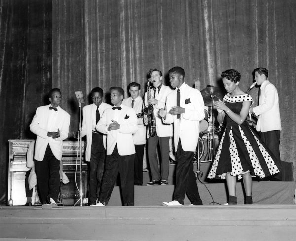 Local teenage performers at the Texas Theater, December 1957.