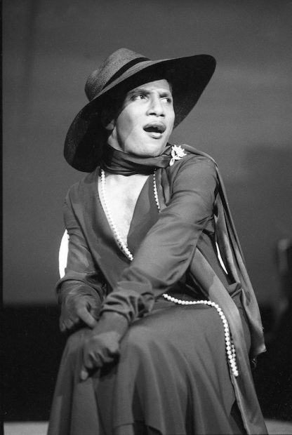 The late Boyd Vance in the stage production Splendora.