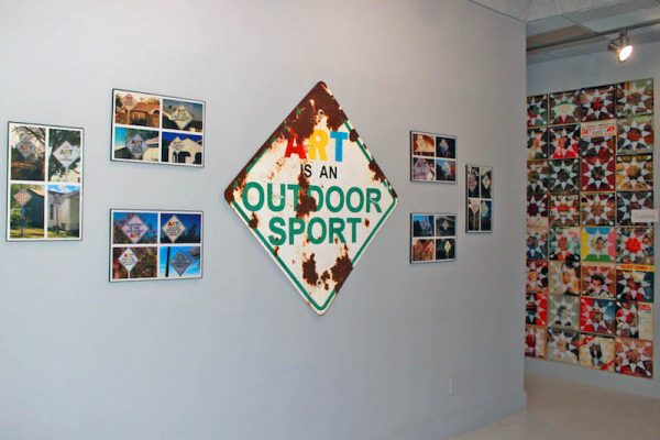 A piece of the Dynamite Museum in an installation view of 'Yellow City Art'
