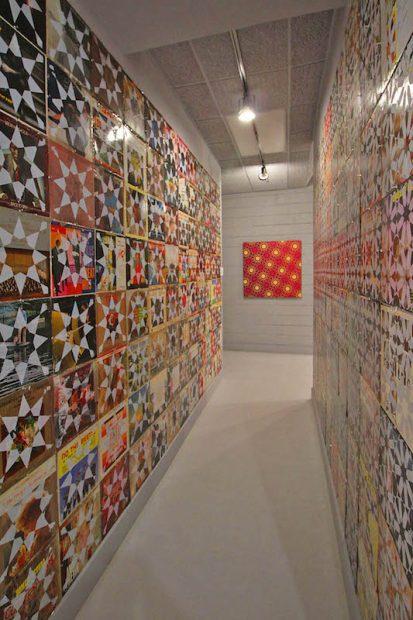 Jon Revett's installation at CAMP for Yellow City Art