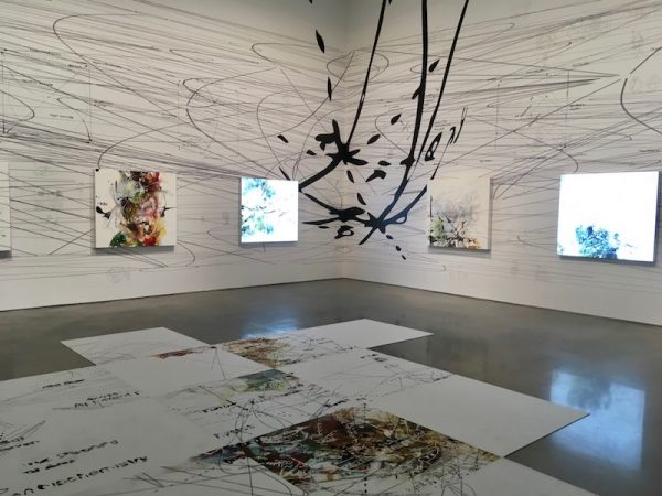 installation view, Matthew Ritchie at Moody @ Rice