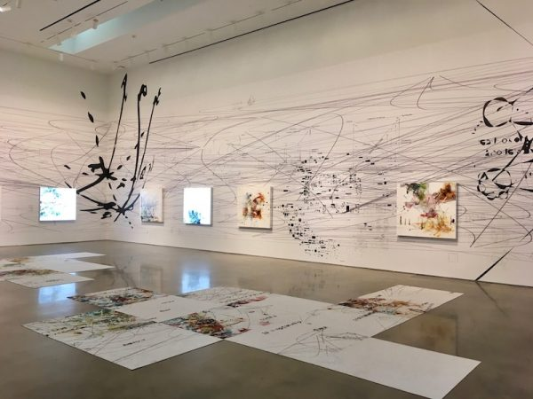 installation view of Matthew Ritchie at Moody @ Rice