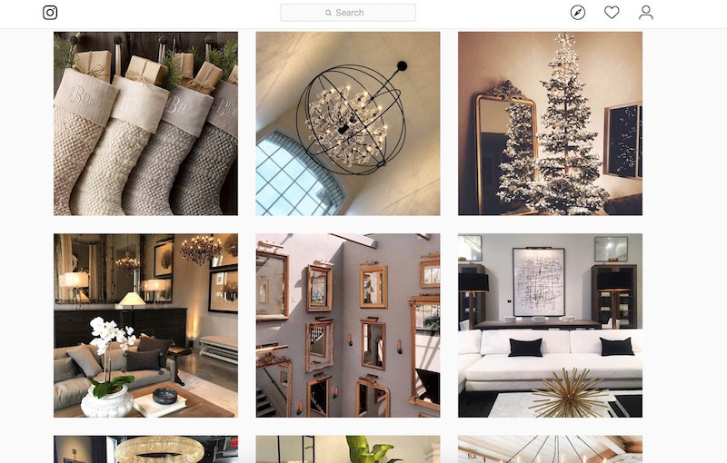 A Restoration Hardware 'fan' page on Instagram