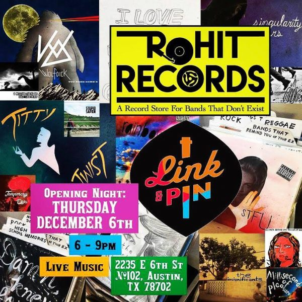 flier for Rohit Records, in Austin