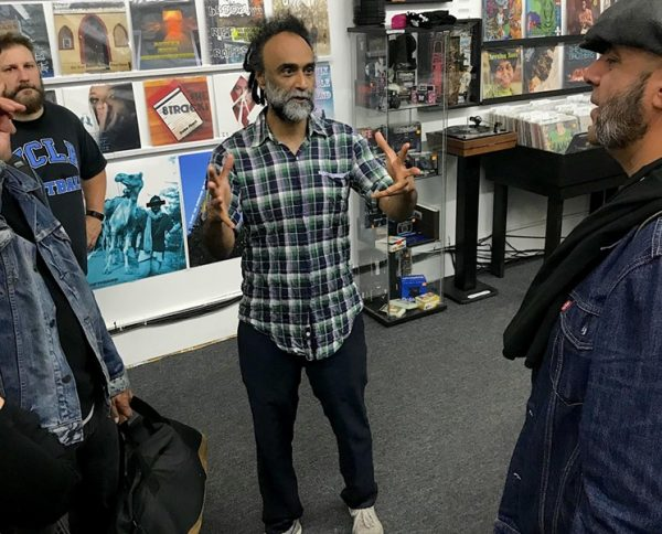 Rohitash Rao at a Los Angeles version of Rohit Records