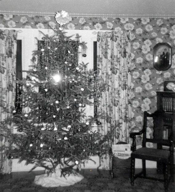 A Christmas tree circa 1940s.