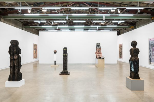 Installation view, Huma Bhabha: Other Forms of Life, The Contemporary Austin
