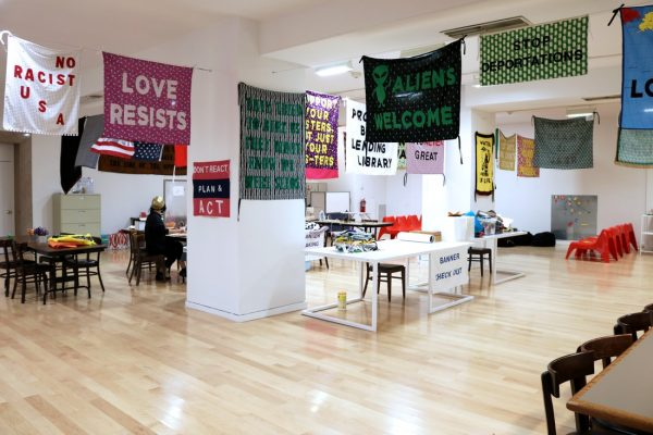 Aram Han Sifuentes' Protest Banner Lending Library