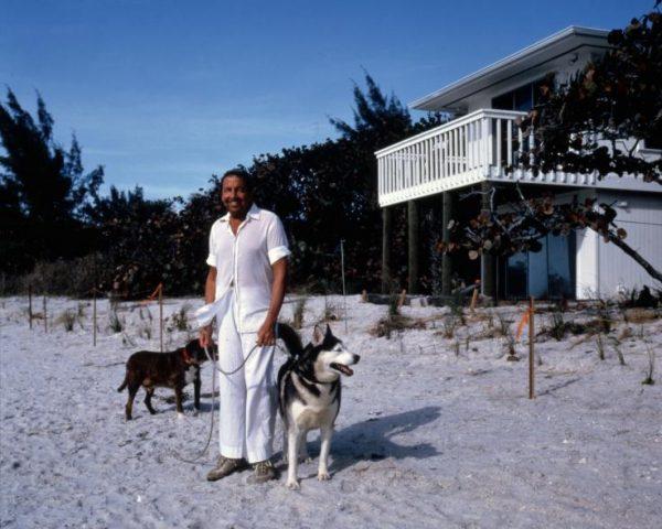 Artist Robert Rauschenberg in Captiva Florida