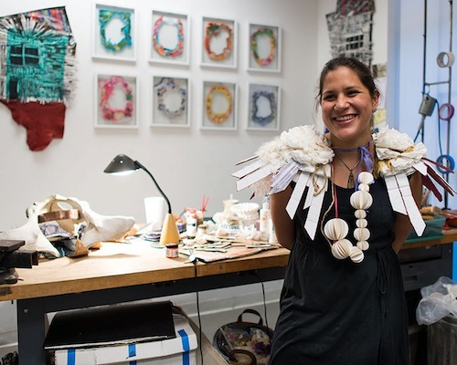 Artist Tarina Frank at the Houston Center for Contemporary Craft
