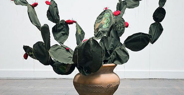 Cactus art by Texas artist Margarita Cabrera- It is Impossible to Cover the Sun with a Finger