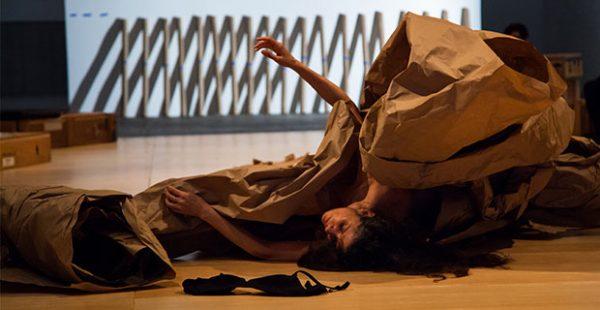 Janine Antoni and Anna Halprin- Paper Dance at the contemporary austin museum