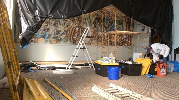 John Biggers Mural Conservation in Houston Texas