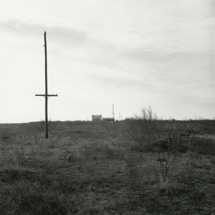 Frank Gohlke, Looking West Toward House and Barn, Ross Family Ranch, Jolly, Texas, 1972/2016