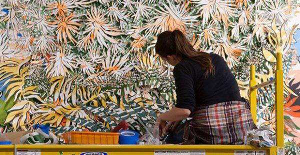 Moody center for the arts installation by Natasha Bowdoin- Sideways to the Sun